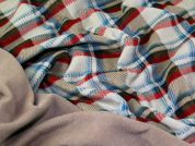 Reverside Plain & Plaid Check Fleece Fabric  Beige