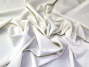 Two Way Stretch Woven Polyester Suiting Dress Fabric  Ivory