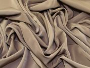 Plain Polyester Microfibre Crepe Dress Fabric  Camel