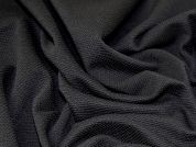 Textured Stretch Jersey Knit Dress Fabric  Black