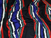 Stripe Print Stretch Viscose Jersey Knit Dress Fabric  Multicoloured