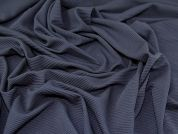 Textured Rib Stretch Jersey Knit Dress Fabric  Navy Blue