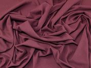 Textured Rib Stretch Jersey Knit Dress Fabric  Wine