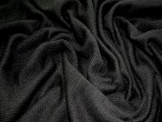 Heavy Ribbed Stretch Jersey Dress Fabric  Black