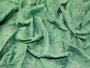 Embroidered Leaf Tie Dye Print Crinkle Cotton Dress Fabric