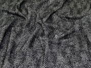 Wool Coating Fabric  Black