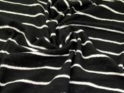 Wool Coating Fabric  Black & Cream