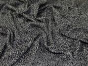 Wool Coating Fabric  Black & White