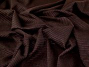 Wool Coating Fabric  Black & Plum