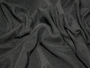 Polyester Stretch Jersey Dress Fabric  Black