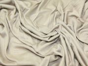 Plain Viscose Stretch Jersey Dress Fabric  Beige