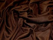 Plain Stretch Jersey Dress Fabric  Dark Brown