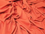 Ponte Roma Stretch Jersey Dress Fabric  Orange