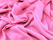 Soft Rayon Crepe Dress Fabric  Bright Pink