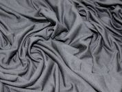 Plain Viscose Stretch Jersey Dress Fabric  Dark Grey