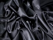 Glossy Stretch Suiting Dress Fabric  Black
