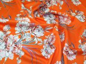 Scuba Knit Fabric  Orange