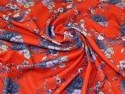 Scuba Knit Fabric  Bright Red