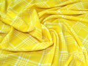 Textured Jersey Knit Fabric  Yellow