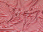 Soft Jersey Knit Fabric  Red & White