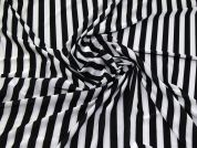 Satin Jersey Knit Fabric  Black & White