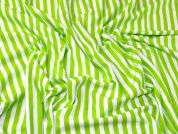Stripe Jersey Knit Fabric  Lime Green