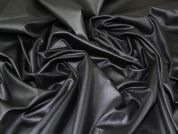 Coated Jersey Knit Fabric  Black