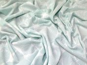 Floral Scuba Knit Fabric  Mint Green
