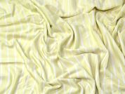Stripe Jersey Knit Fabric  Lemon