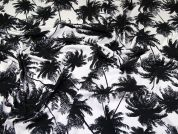 Palm Tree ITY Jersey Knit Fabric  Ink