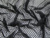 Spotty Lace Fabric  Black
