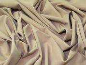 Poly, Viscose & Lycra Stretch Suiting Dress Fabric  Beige