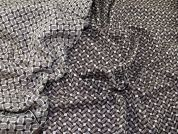 Wool Blend Reversible Woven Coating Fabric  Brown & Cream