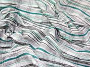 Crinkle Cotton Check Dress Fabric  Jade Green
