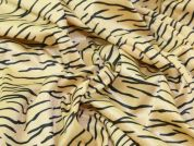 Tiger Animal Print Velour Dress Fabric  Gold & Black