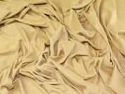 Stretch Suedette Dress Fabric  Camel Gold