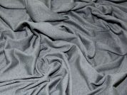 Plain Viscose Stretch Jersey Dress Fabric  Charcoal Grey