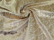 Metallic Brocade Fabric  Gold