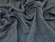 Tweed Wool Coating Fabric  Airforce Blue Grey