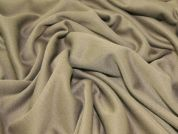 Plain Soft Stretch Jersey Dress Fabric  Mushroom Brown