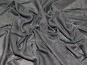 Two Tone Stretch Jersey Dress Fabric  Black & Jade Green