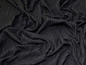 Rib Jersey Knit Fabric  Black