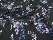 Floral Print Crepe Dress Fabric  Multicoloured