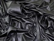 Wet Look Jersey Knit Fabric  Black