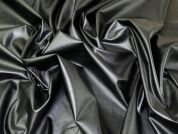Stretch Faux Leather Fabric  Black