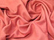Lurex Wool Blend Coating Fabric  Coral Pink