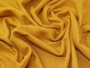 Lurex Wool Blend Coating Fabric  Mustard