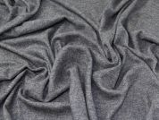 Heavy Wool Knit Fabric  Grey Marl