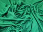 Heavy Wool Knit Fabric  Emerald Green