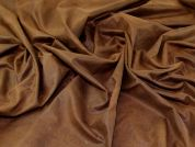 Textured Faux Suede Fabric  Brown